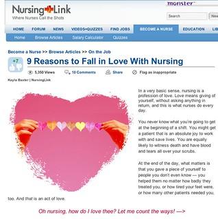 9 Reasons to Fall in Love With Nursing - NursingLink | by TangerineKlarb