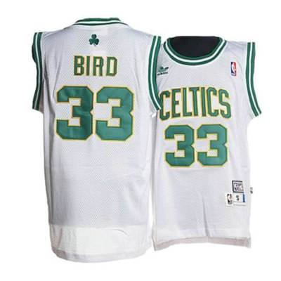 547f40ffe34e ... Boston Celtics  33 Larry Bird White Gold Throwback Jersey