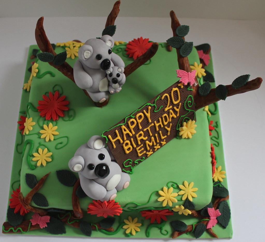 Outstanding Koala Birthday Cake Pauls Creative Cakes Flickr Funny Birthday Cards Online Hetedamsfinfo