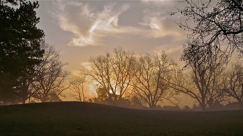 morning fog sunrise golf landscape crookedcreek