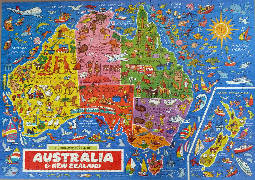 Map Of Australia Jigsaw Puzzle.Picture Map Puzzle Of Australia New Zealand Jigsaw Compl Flickr