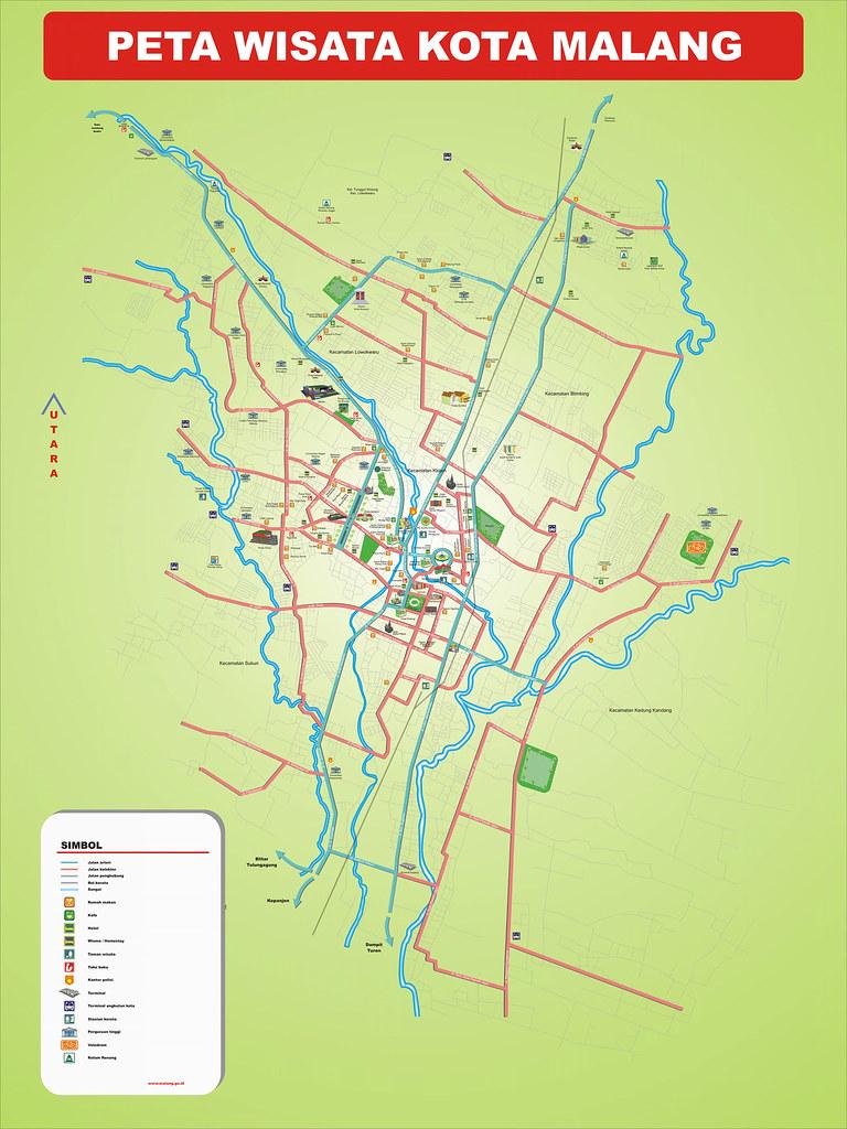 Peta Wisata Kota Malang Melvil Casshipper Flickr