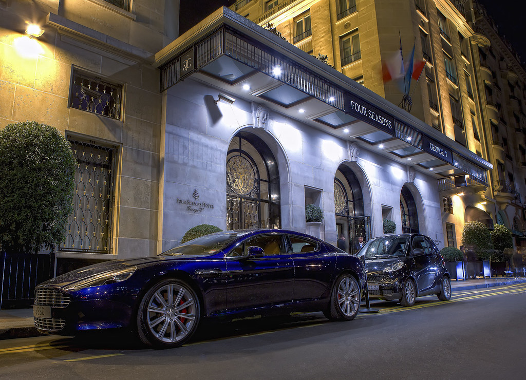 Hdr Aston Martin Rapide And Smart Fortwo In Front Of The F Flickr