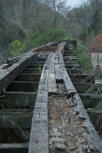 wood railroad trestle athens rem