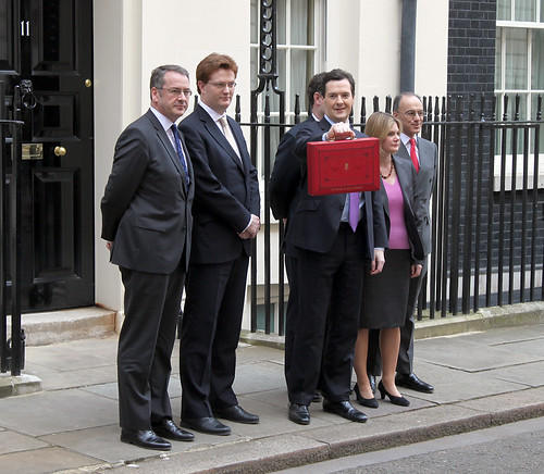 Chancellor and Treasury Ministers outside No.11 Downing Street on Budget Day | by HM Treasury