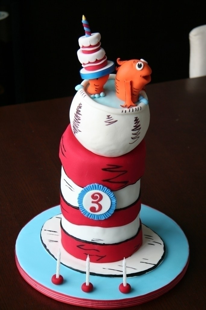 Sensational Dr Seuss Birthday Cake Birthday Cake Made For My 3 Year Ol Flickr Funny Birthday Cards Online Alyptdamsfinfo