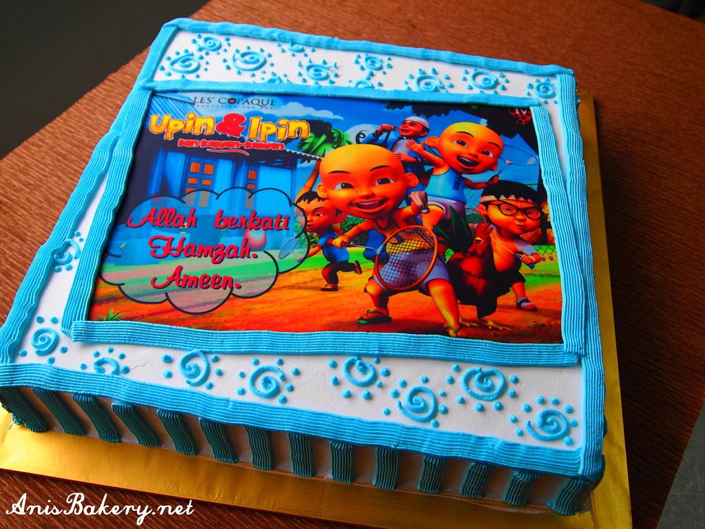 Admirable Upin Ipin Birthday Cake Facebook Here Facebook Com Flickr Birthday Cards Printable Giouspongecafe Filternl