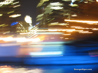 Night River Abstract | by GeorgeAlger.com
