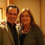 Thu, 13/01/2011 - 8:02pm - Kurt Elling with WFUV board member Jill Welter. Photo by Laura Fedele