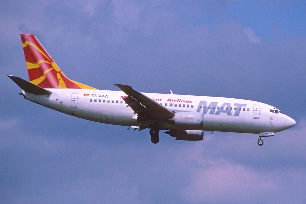 361ag - MAT - Macedonian Airlines Boeing 737-300; Z3-AAA@ZRH;02.07.2005