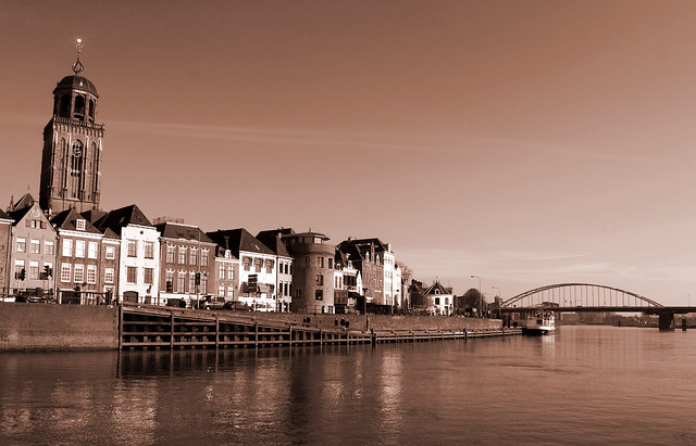 Deventer at the river IJssel