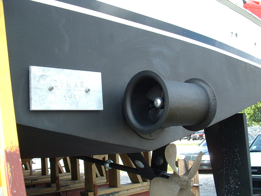 Stern Thruster Side Power Color Match Boat