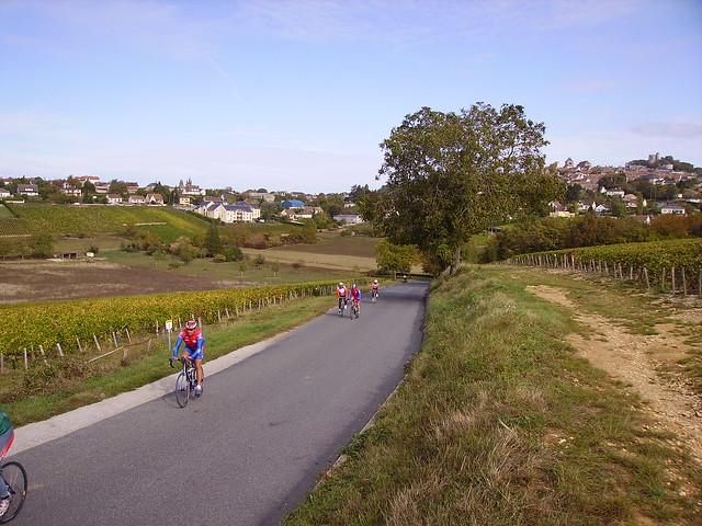 Cyclists near Sancerre