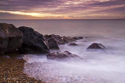 sea beach sunrise sussex rocks hightide lancing