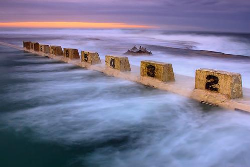 ocean morning sun seascape pool rock newcastle geotagged australia baths nsw rise merewether geo:lat=32952266080987044 geo:lon=15175534893376005