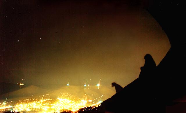 Celia and Negro en la bufa, night; Guanajuato, Mexico (2002)