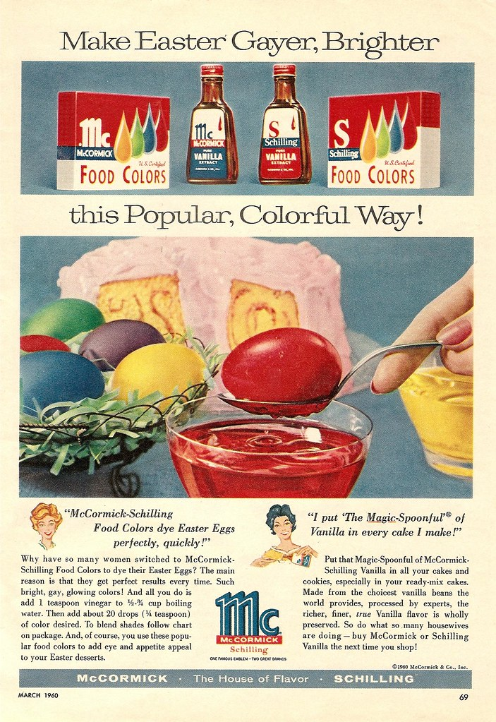 1960 mccormick spices schilling food colors vanilla easter ...