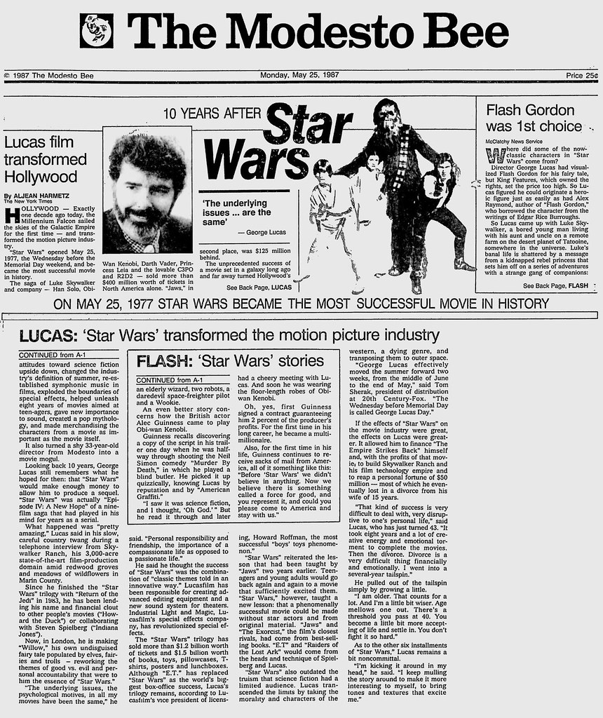 Editorial - The Modesto Bee - 10 Years After Star Wars - 1… | Flickr