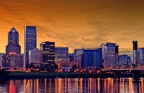 sunset usa skyline oregon portland cityscape or citylights hdr photomatix me2youphotographylevel1