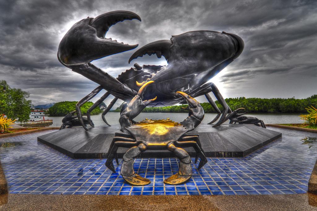 Crab Sculpture, Krabi Town, Thailand   nucksfan604   Flickr