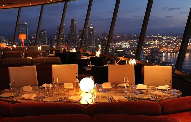 Sunset at the Sky City Restaurant