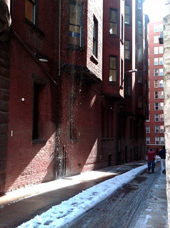 Melting Snow Dripping in Alley