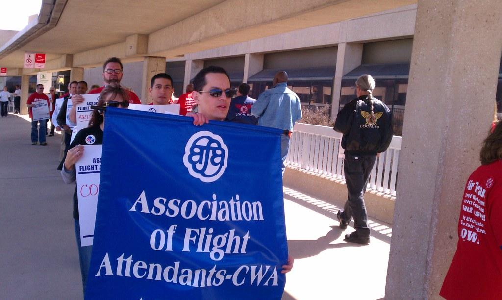 CWA Supporting Air Tram Flight Attendants