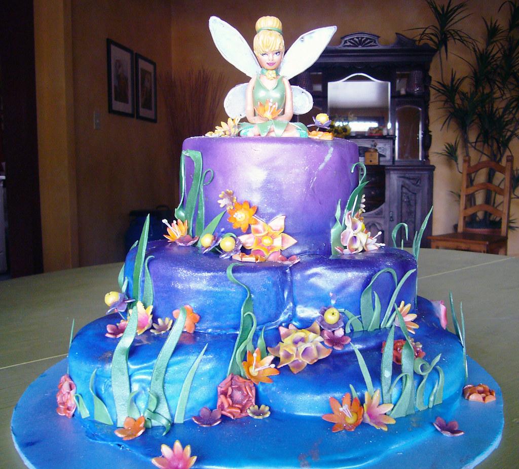 Astounding Tinkerbell Birthday Cake Da Bombe Cake Co Da Bombe Cake Personalised Birthday Cards Paralily Jamesorg