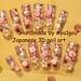 Aera, princess gyaru rose glittery nails