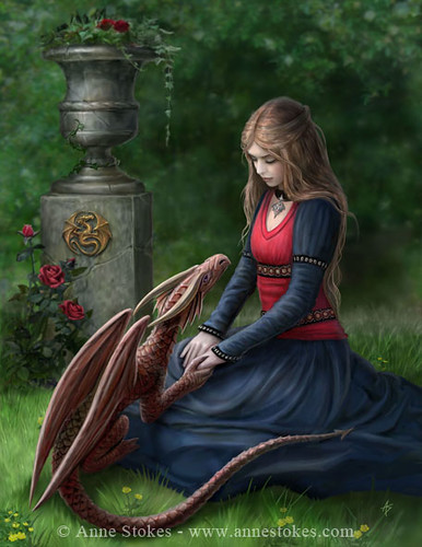 Girl and Dragon Friends | by mysticpagan