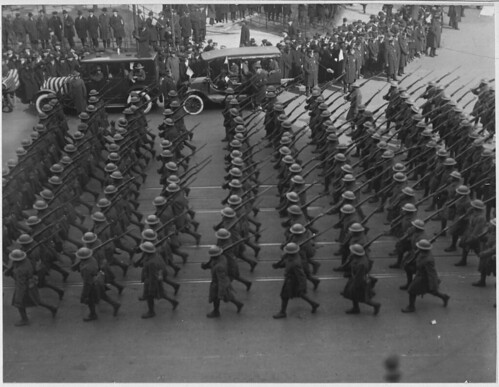 369th Infantry marching on Fifth Avenue, New York City. | by The U.S. National Archives