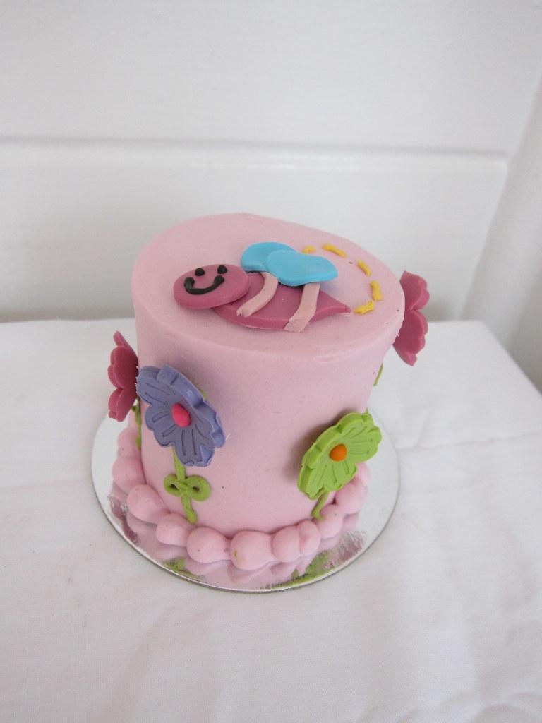 Excellent Spring First Birthday Cake Polkadots Olga Flickr Funny Birthday Cards Online Elaedamsfinfo