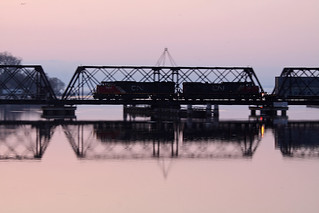 Hotshot across the bridge - Before Dawns Early Light at 1/25 of a second