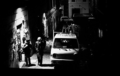 "Image titled ""Side street at night, Rome."""