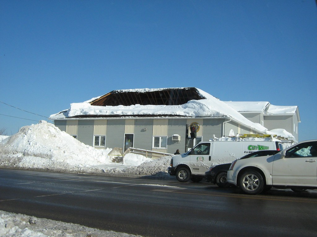 Roof Collapse Due To Snow Load A Large Portion Of The