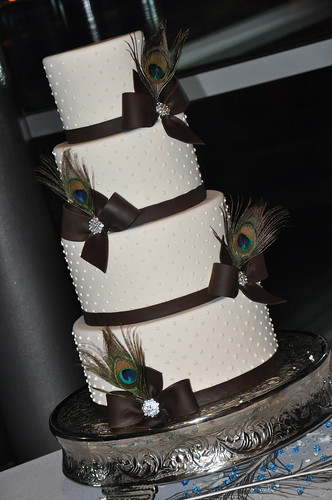 Peacock Feather Wedding Cake | by Designer Cakes By April