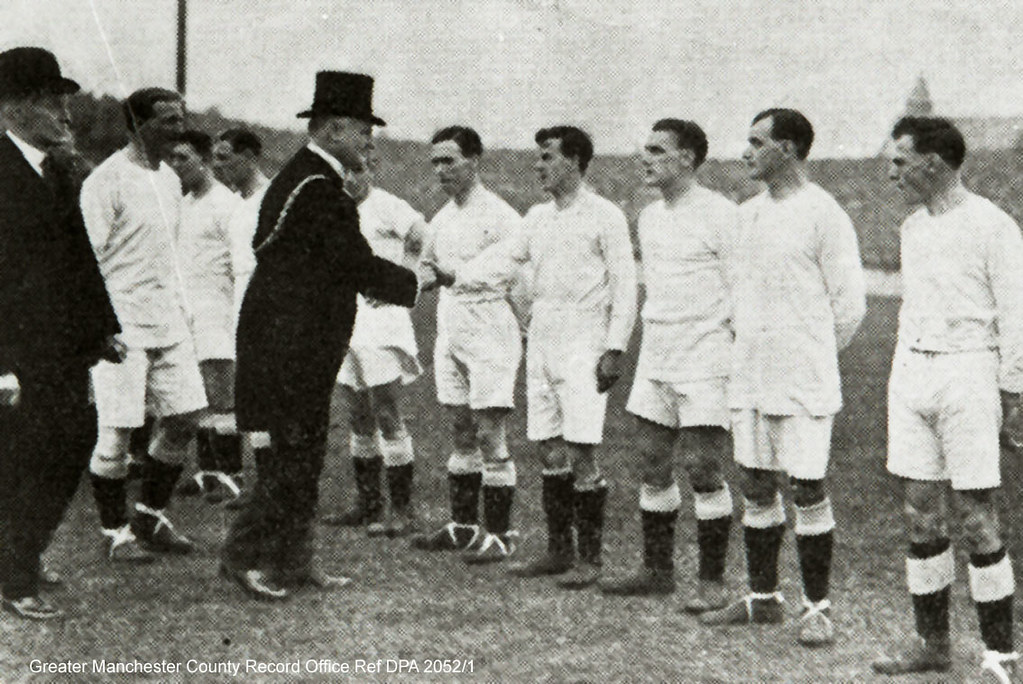 Lord Mayor of Manchester opening Maine Road Football Ground, 1923