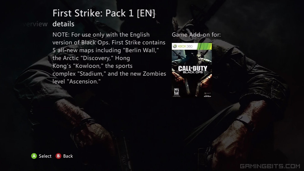 Call of Duty Black Ops: First Strike Map Pack 1 (Xbox LIVE ... Call Of Duty Black Ops Map Packs on black ops 2 map packs, call of duty black ops 3 map packs, call of duty world at war map packs, call of duty mw3 map packs,