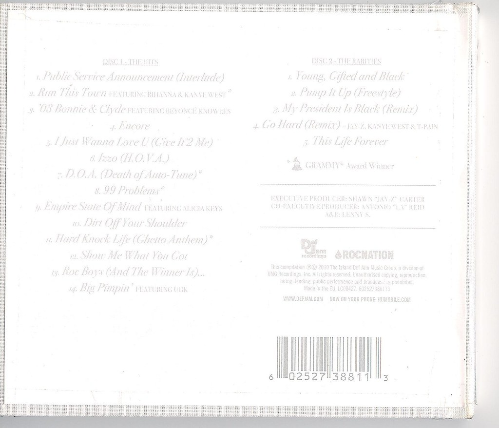 Jay-Z - The Hits Collection - Volume One (2010) & The Rari