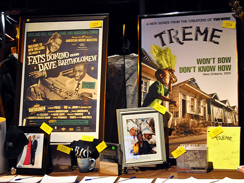 The auction included New Orleans music and Treme show memorabilia.