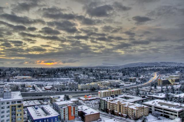 February snow in Bellevue