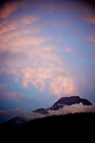 sunset volcano