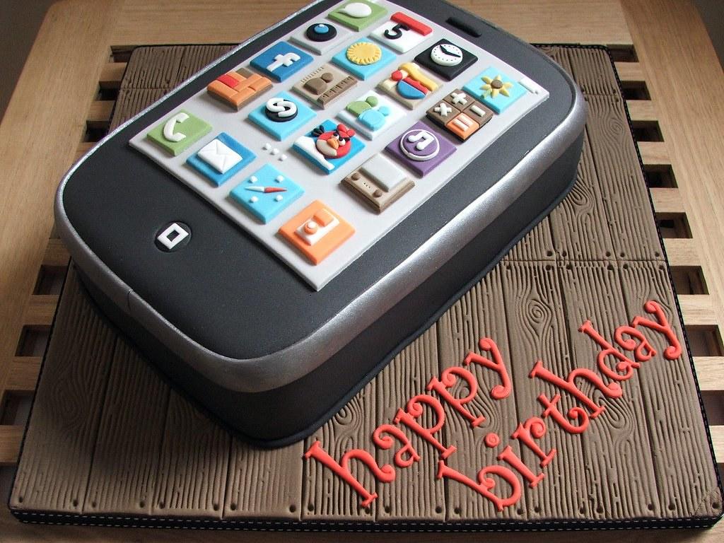 Prime Iphone Birthday Cake Iphone Birthday Cake Made For My Boyf Flickr Funny Birthday Cards Online Aeocydamsfinfo