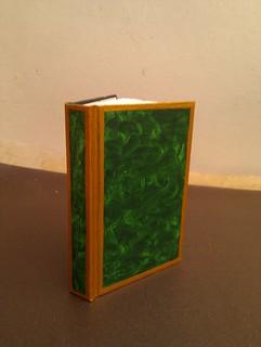 Malachite & gold notebook (unvarnished) | by Eithin