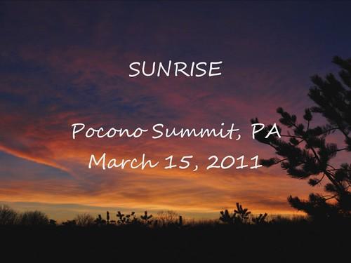 sunrise pennsylvania poconos monroecounty
