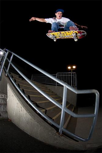 Jordan, Olli over the rail, Duncan