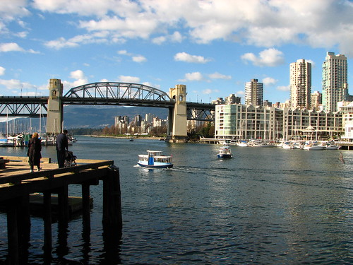 Burrard bridge o'er False Creek from Granville island Market | by Uncleweed