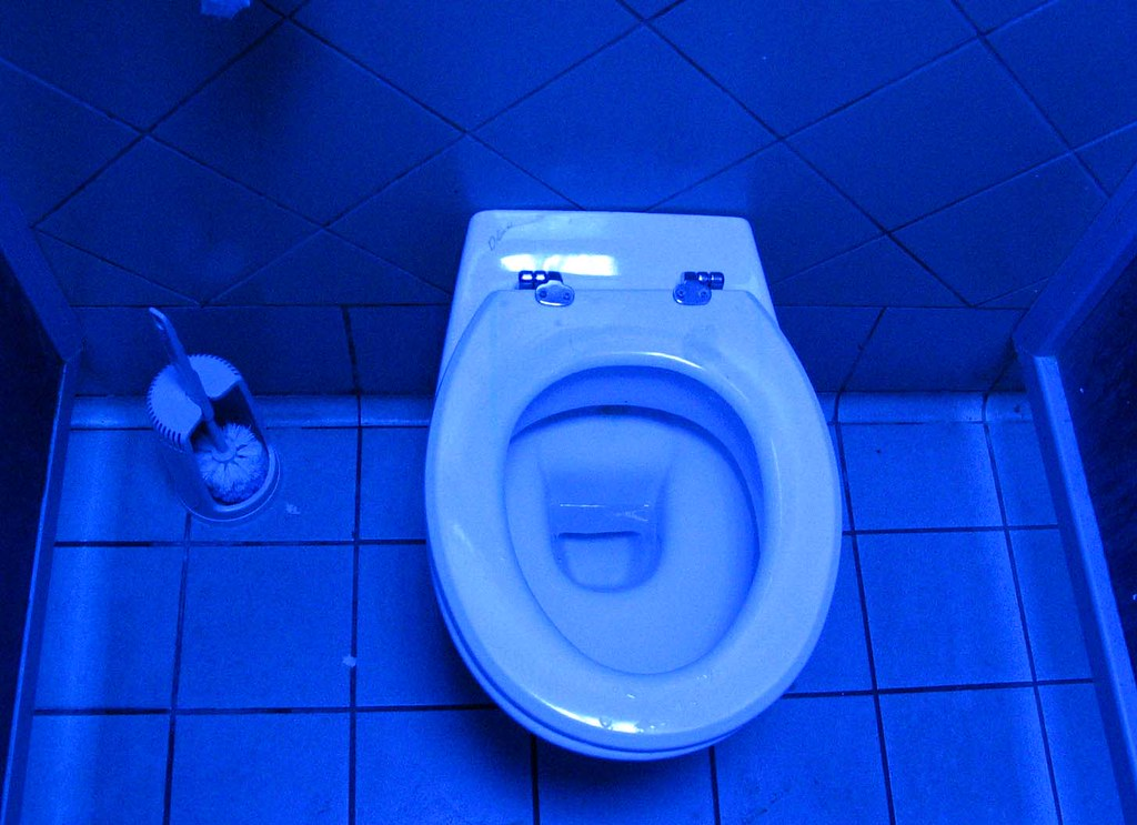 Psychedelic toilet | The inexplicable electric blue light of