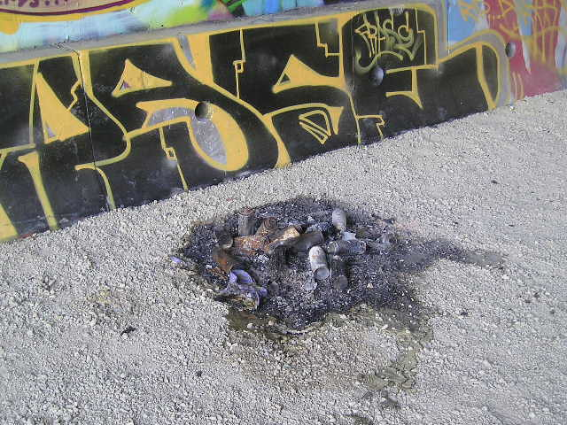 Burned Paint Cans