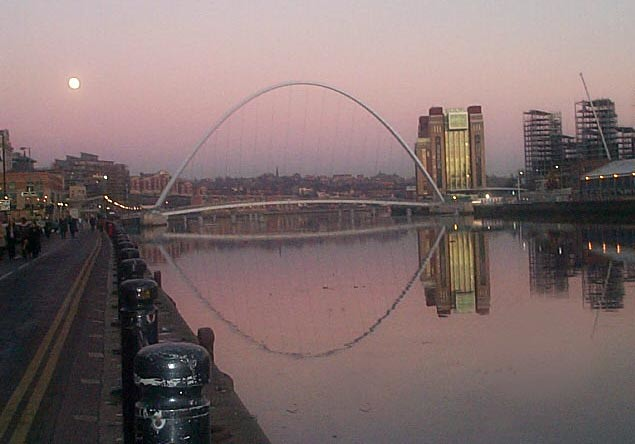 Millennium Bridge and Baltic in Pink